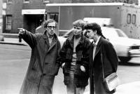 HUSBANDS AND WIVES, Woody Allen, Mia Farrow, Judy Davis, 1992, directing on the street