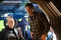 X-MEN: DAYS OF FUTURE PAST, from left: Patrick Stewart, director Bryan Singer, on set, 2014. ph: Alan Markfield/TM & copyright ©20th Century Fox Film Corp. All rights reserved
