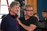 HEAVEN IS FOR REAL, l-r: director Randall Wallace, producer Joe Roth on set, 2014, ph: Allen Fraser/©TriStar Pictures