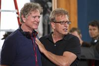 HEAVEN IS FOR REAL, from left: director Randall Wallace, producer Joe Roth, on set, 2014. ph: Allen Fraser/©TriStar Pictures