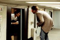 BEING JOHN MALKOVICH, Catherine Keener, John Cusack, 1999, in the elevator