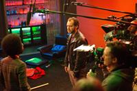 DOM HEMINGWAY, from left: Nathan Stewart-Jarrett, Jude Law, on set, 2013. ph: Nick Wall/TM and ©copyright Fox Searchlight. All rights reserved.