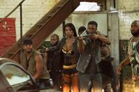BRICK MANSIONS, Ayisha Issa (in gold and black), Gouchy Boy (far right), 2014. ph: Philippe Bosse/©Relativity Media
