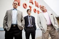 SMALL TIME, from left: Christopher Meloni, Devon Bostick, Dean Norris, 2014. ©Anchor Bay Entertainment