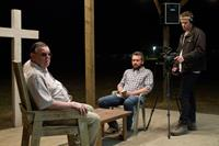 THE SACRAMENT, l-r: Gene Jones, AJ Bowen, Joe Swanberg, 2013/©Magnolia Pictures