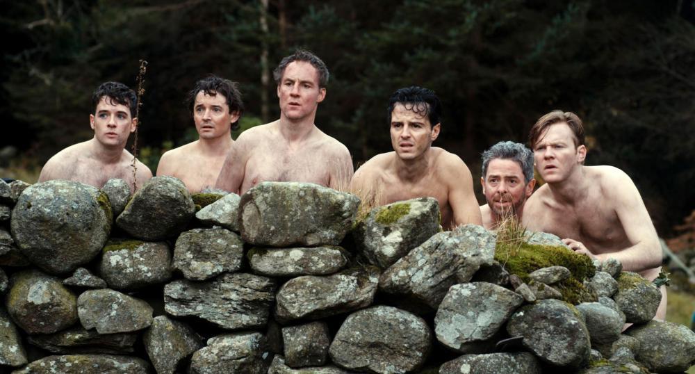 THE BACHELOR WEEKEND, (aka THE STAG), from left: Michael Legge, Hugh O'Conor, Peter McDonald, Andrew Scott, Andrew Bennett, Brian Gleeson, 2013. ©Arrow Film Distributors