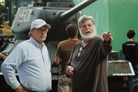 WALKING WITH THE ENEMY, from left: director Mark Schmidt, cinematographer Dean Cundey, on set, 2013. ©Liberty Studios