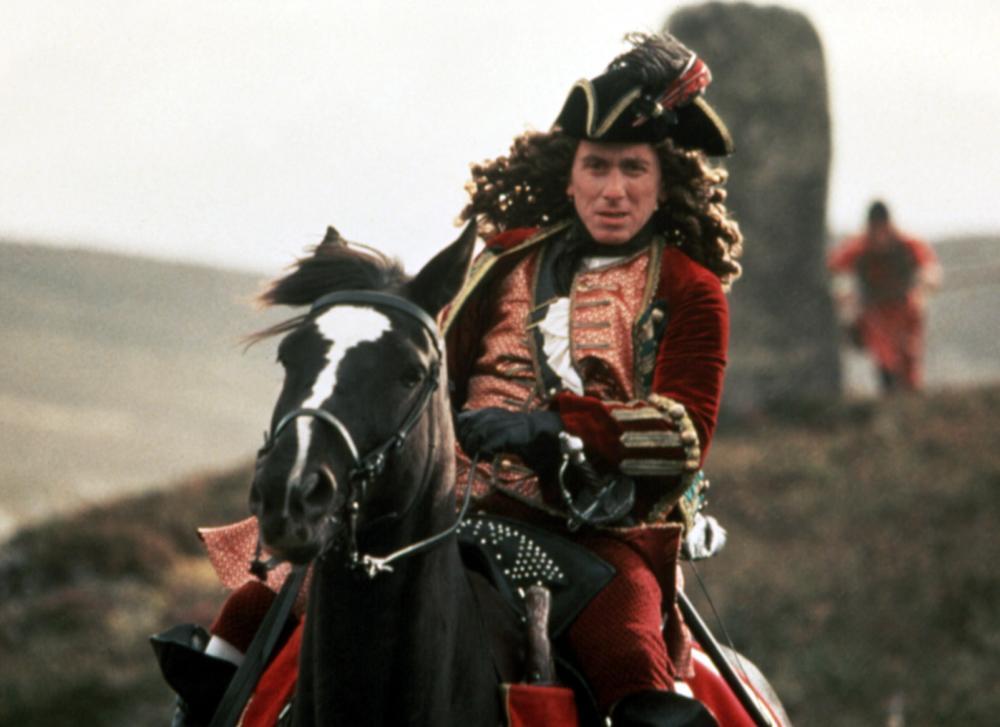 ROB ROY, Tim Roth, 1995, on horseback