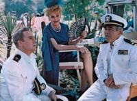 YOURS, MINE AND OURS, Van Johnson, Lucille Ball, Henry Fonda, on-set, 1968
