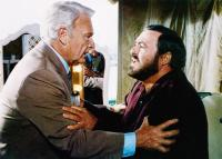 YES, GIORGIO, from left, Eddie Albert, Luciano Pavarotti, 1982, ©MGM