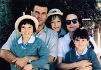 A WORLD APART, from left, Carolyn Clayton-Cragg,  Jeroen Krabbe, Jodhi May, Barbara Hershey, Merav Gruer, 1988, ©Atlantic Releasing