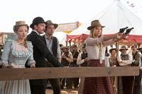 A MILLION WAYS TO DIE IN THE WEST, from left: Amanda Seyfried, Neil Patrick Harris, Seth MacFarlane, Charlize Theron, 2014. ©Universal Pictures