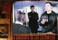 THE WISDOM OF CROCODILES, (aka LA SABIDURIA DE LOS COCODRILOS), Jack Davenport (arms folded), Jude Law (holding passport), 1998, © Miramax