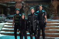 X-MEN: DAYS OF FUTURE PAST, from left: Adan Canto as Sunspot, Ellen Page as Kitty Pryde, Shawn Ashmore as Iceman, Daniel Cudmore as Colossus, 2014. ph: Alan Markfield/TM & copyright ©20th Century Fox Film Corp. All rights reserved