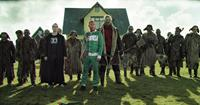DEAD SNOW: RED VS. DEAD, (aka DOD SNO 2), front, from left: Martin Starr, Vegar Hoel, Derek Mears, 2014. ©Well Go USA Entertainment