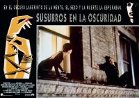WHISPERS IN THE DARK, (aka SUSURROS EN LA OSCURIDAD), Spanish lobbycard, from left: Annabella Sciorra, John Leguizamo, 1992. ©Paramount