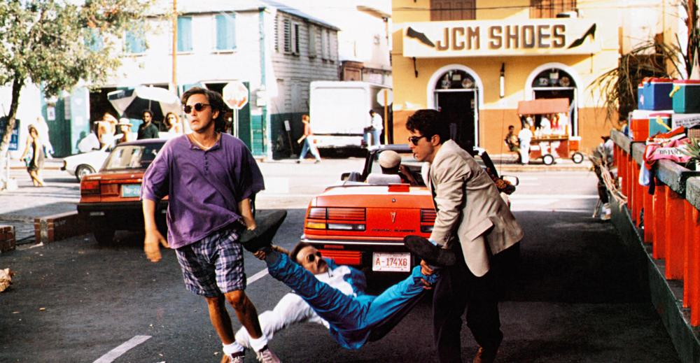 WEEKEND AT BERNIE'S II, from left: Andrew McCarthy, Terry Kiser, Jonathan Silverman, 1993, © TriStar