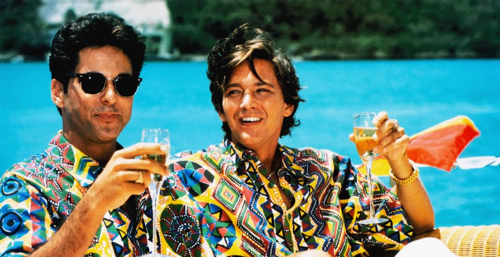 WEEKEND AT BERNIE'S II, from left: Jonathan Silverman, Andrew McCarthy, 1993, © TriStar