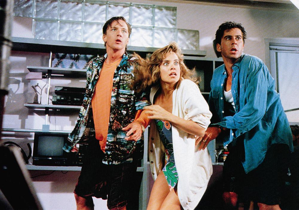 WEEKEND AT BERNIE'S, from left: Andrew McCarthy, Catherine Mary Stewart, Jonathan Silverman, 1989, TM & Copyright © 20th Century Fox Film Corp.