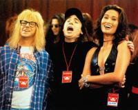 WAYNE'S WORLD 2, from left: Dana Carvey, Mike Myers, Tia Carrere, 1993, © Paramount