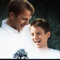 THE WAR, from left: Kevin Costner, Elijah Wood, 1994, © Universal