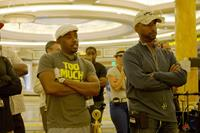 THINK LIKE A MAN TOO, from left: producer Will Packer, director Tim Story, on set, 2014. ph: Matt Kennedy/©Screen Gems
