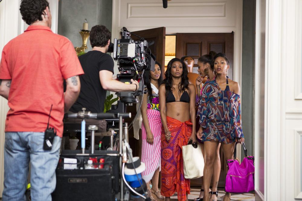 THINK LIKE A MAN TOO, back, from left: Regina Hall, Gabrielle Union, La La Anthony, Meagan Good, 2014. ph: Matt Kennedy/©Screen Gems