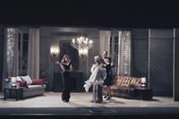 A MAGNIFICENT HAUNTING, (aka MAGNIFICA PRESENZA), l-r: Vittoria Puccini, Margherita Buy, Ambrogio Maestri, Claudia Potenza, 2012, ph: Romolo Eucalitto/©01 Distribution