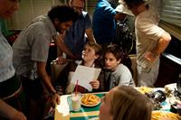 EARTH TO ECHO, l-r: Director Dave Green, Reese Hartwig, Teo Halm on set, 2014. ph: Patrick Wymore/©Relatvity Media