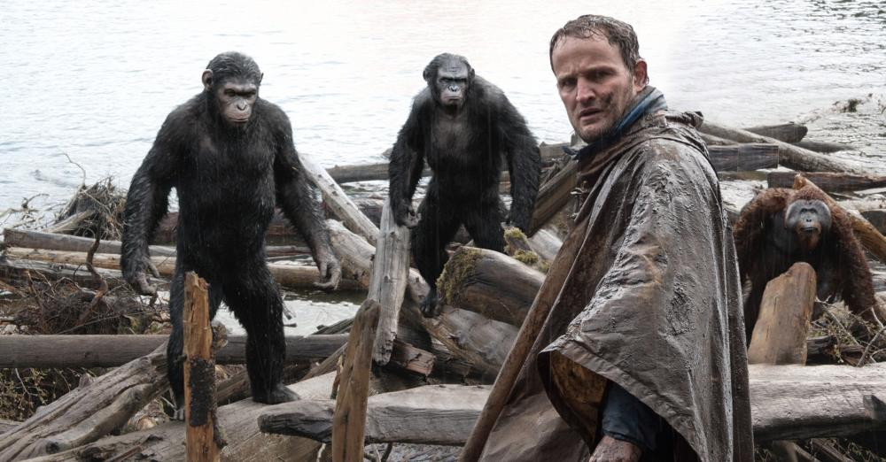 DAWN OF THE PLANET OF THE APES, Andy Serkis, Toby Kebbell, Jason Clarke, Karin Konoval, 2014. ph: David James/TM and ©Copyright Twentieth Century Fox Film Corporation. All rights reserved.