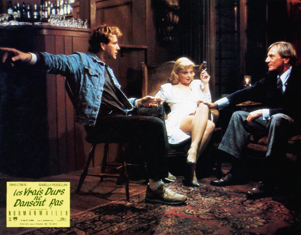 TOUGH GUYS DON'T DANCE, (aka LES VRAIS DURS NE DANSENT RAS), Ryan O'Neal (left), Frances Fisher (center), 1987, © Cannon Films