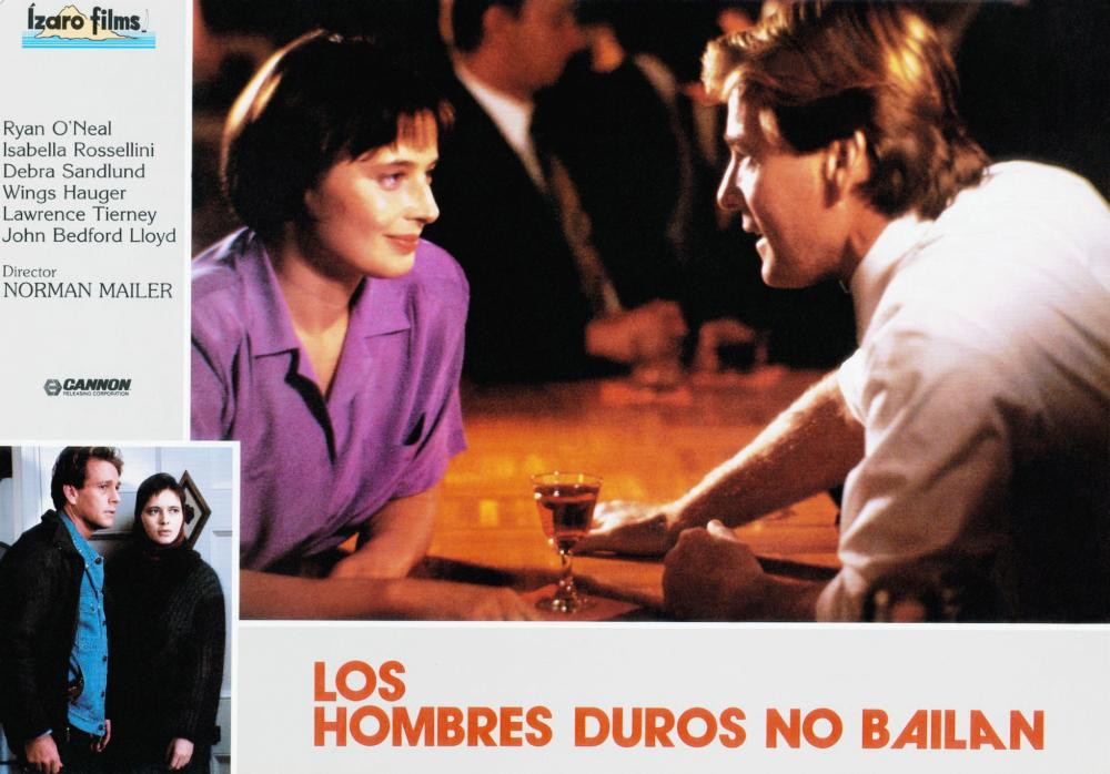 TOUGH GUYS DON'T DANCE, (aka LOS HOMBRES DUROS NO BAILAN), bottom from left: Ryan O'Neal, Isabella Rossellini, center from left: Isabella Rossellini, Ryan O'Neal, 1987, © Cannon Films