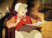 THUMBELINA, from left, Mother, voiced by Barbara Cook, Thumbelina, voiced by Jodi Benson, 1994, ©Warner Bros.