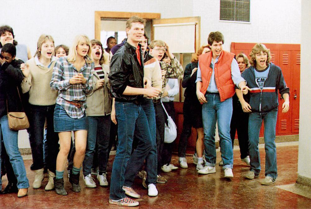 TEACHERS, Laura Dern (denim skirt), 1984, © MGM