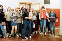 TEACHERS, Laura Dern (denim skirt), 1984, © MGM