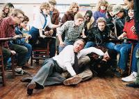 TEACHERS, on floor from left: Allen Garfield, Crispin Glover, 1984, © MGM