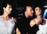 TANGO & CASH, from left: Sylvester Stallone, Brion James, Kurt Russell, 1989, © Warner Brothers