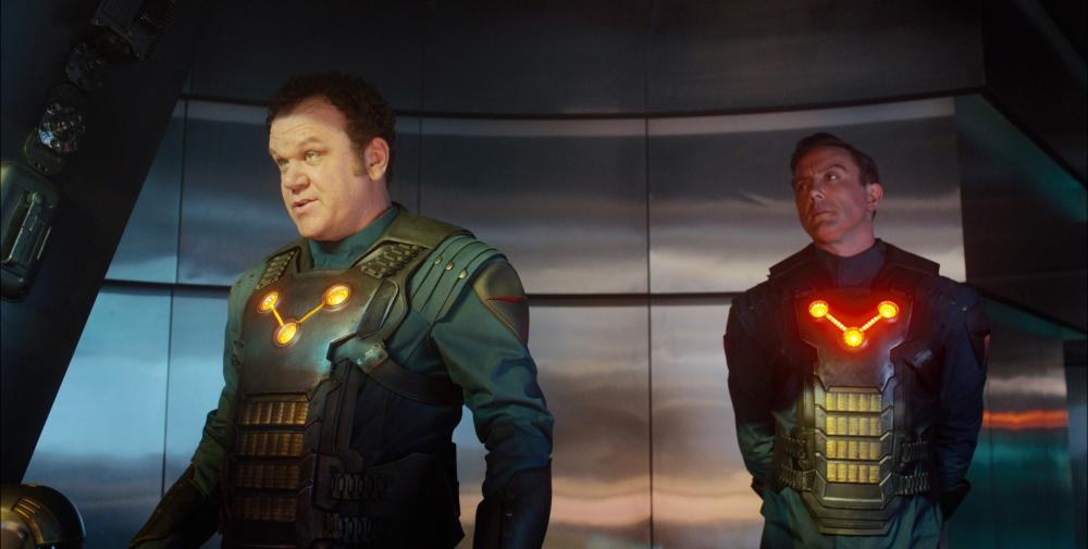 GUARDIANS OF THE GALAXY, from left: John C. Reilly, Peter Serafinowicz, 2014./©Walt Disney Studios Motion Pictures