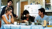 STAYING TOGETHER, Tim Quill (standing), seated from left: Melinda Dillon, Sean Astin, Dermot Mulroney, 1989, © Hemdale