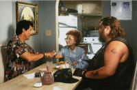 STOP! OR MY MOM WILL SHOOT, from left: Sylvester Stallone, Estelle Getty, Dennis Burkley, 1992, © Universal