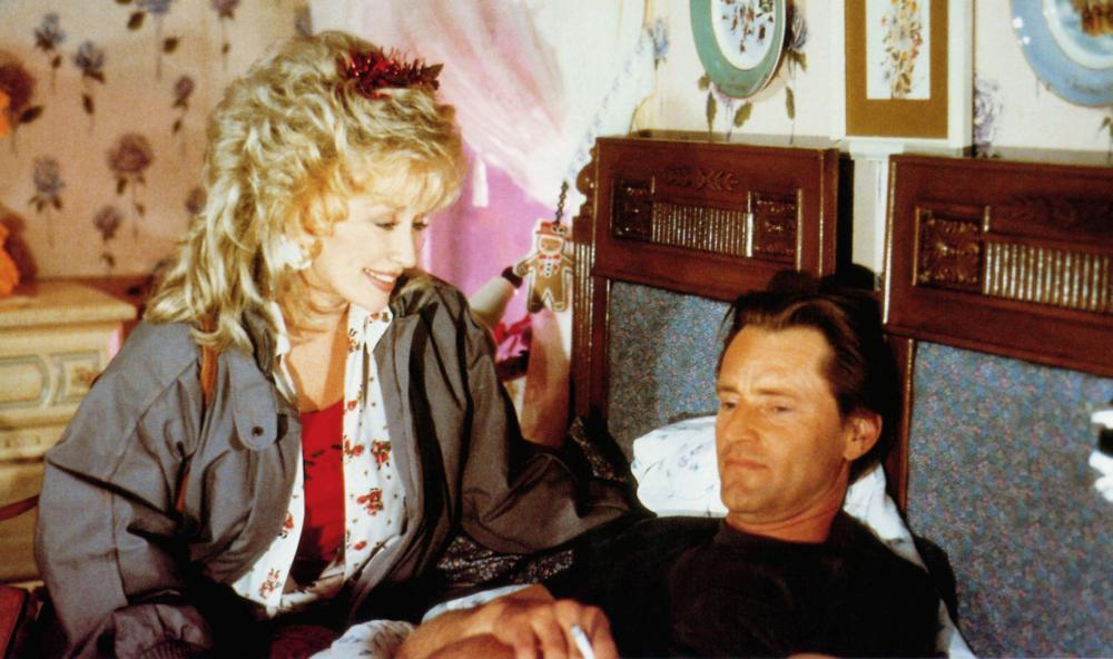 STEEL MAGNOLIAS, from left: Dolly Parton, Sam Shepard, 1989, © TriStar