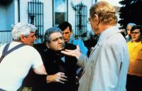 STRANGE INVADERS, Michael Lerner (being held), Kenneth Tobey (open hand), 1983, © Orion