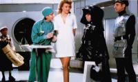SPACEBALLS, front from left: Sandy Helberg, Brenda Strong, rick Moranis, George Wyner, 1987, © MGM