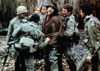 SOUTHERN COMFORT, Fred Ward (back to camera), without helmet from left: Keith Carradine, Powers Boothe, Brion James (beard), Alan Autry, Lewis Smith, 1981, TM & Copyright © 20th Century Fox Film Corp.