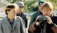 SNEAKERS, from left, River Phoenix, David Strathairn, Dan Aykroyd, Robert Redford, 1992, ©Universal Pictures/ .