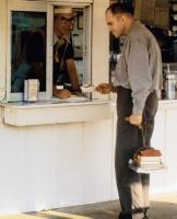 SLING BLADE, from left: Jim Jarmusch, Billy Bob Thornton, 1996, © Miramax