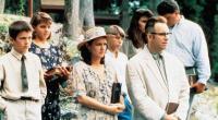 SLING BLADE, front from left: Lucas Black, Natalie Canerday, John Ritter, 1996, © Miramax