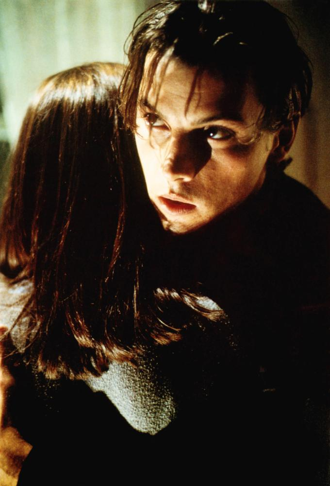SCREAM, from left: Neve Campbell, Skeet Ulrich, 1996, © Dimension Films