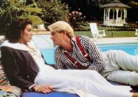 SCENES FROM THE CLASS STRUGGLE IN BEVERLY HILLS, from left: Mary Woronov, Ed Begley Jr., 1989, © Cinecom Pictures