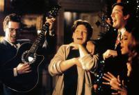 PETER'S FRIENDS, from left: Hugh Laurie, Kenneth Branagh, Stephen Fry, Alphonsia Emmanuel, 1992, © Samuel Goldwyn